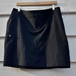 Athleta Skort Skirt with Shorts Black Skater Mini